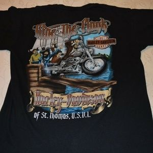 Harley Davidson Tee-Shirt with Graphic Size L